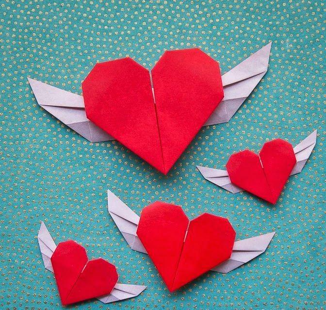 Оригами открытка на день валентина, картинки сериал все