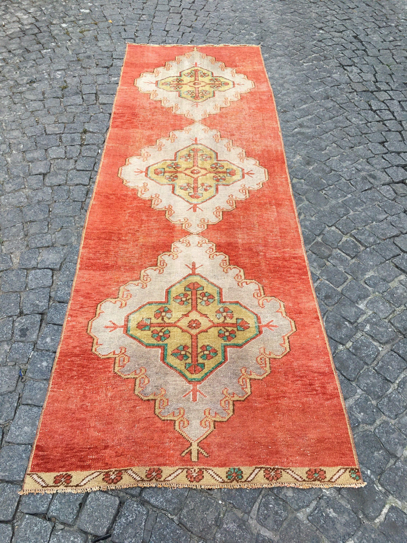 Turkish Carpet, 048  9.6 Ft x 3.1 Ft.  2.92cm x 0.95cm Vintage handmade Low pile Tribal Carpet  Anatolia Home Decor. Konya Rug. #carpet #rug #homedecor #officerunner #runner #oushak #HomeDécor #turkishkilimpillow #bohemianpillow #cushioncover #decorativepillow #pillowcase #bohokilimpillow #turkish #rug #etsyrug #etsy #carpet #homedecor #homedizayn #homedesign #newyork #america #dallas #handmaderug #handmade #ottoman #ottomanrug #ruglove #kilimmodelleri #vintage #vintagestyle #oushakrug #kilim