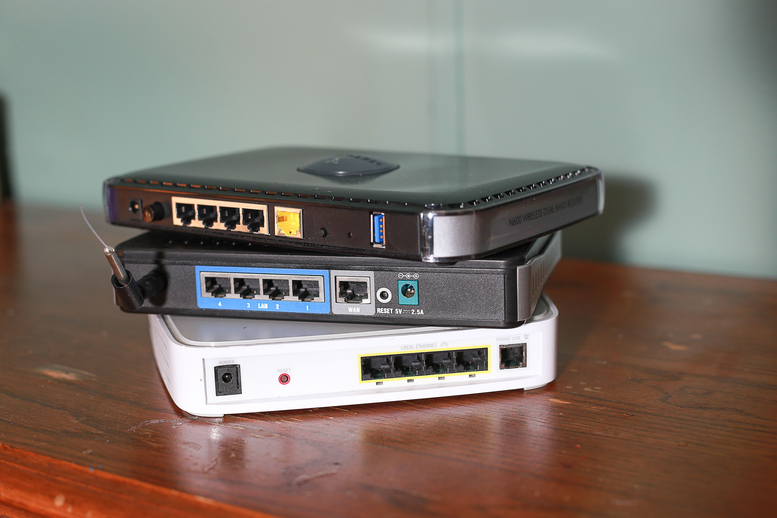How to Connect a DSL Modem With Two Routers to Create Two Wireless