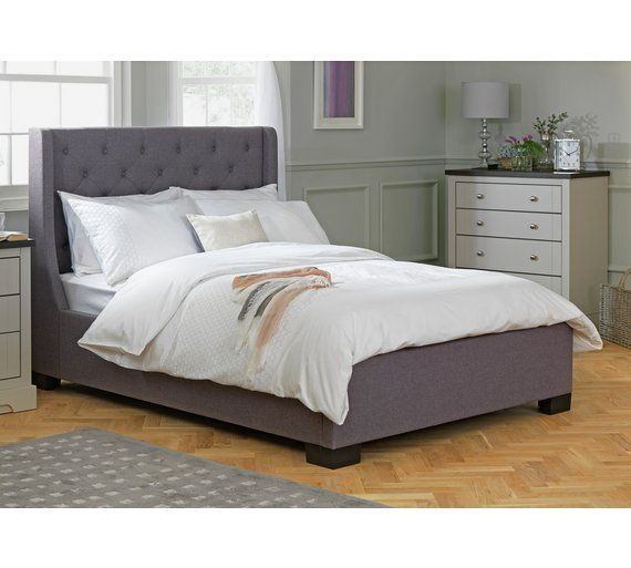 Best Buy Argos Home Levena Double Fabric Bed Frame Grey Bed 400 x 300