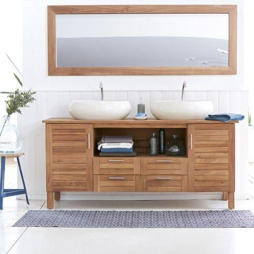Teak Badmöbel badunterschrank aus teak 165 soho bath