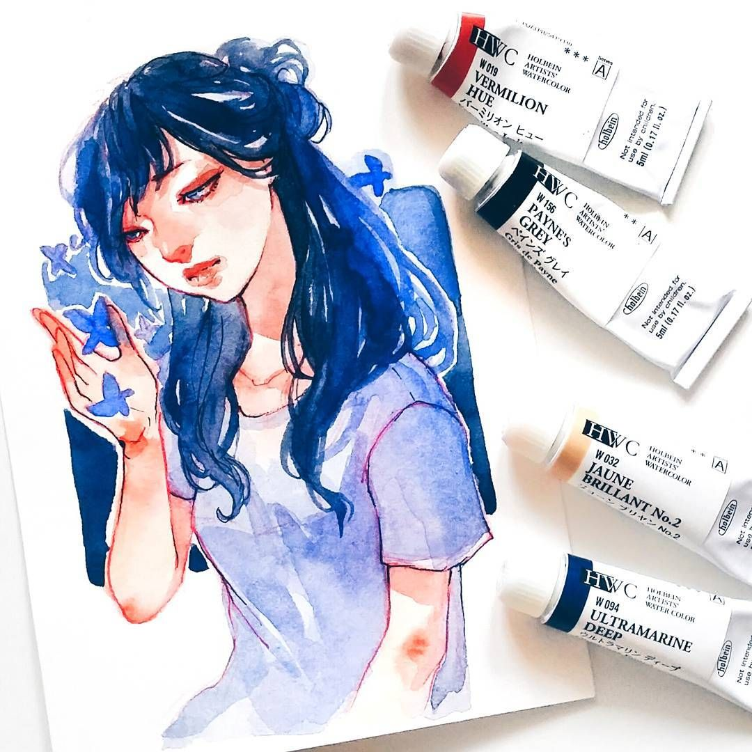 Ashiyaart Watercolor Art Colorful Art Sketches