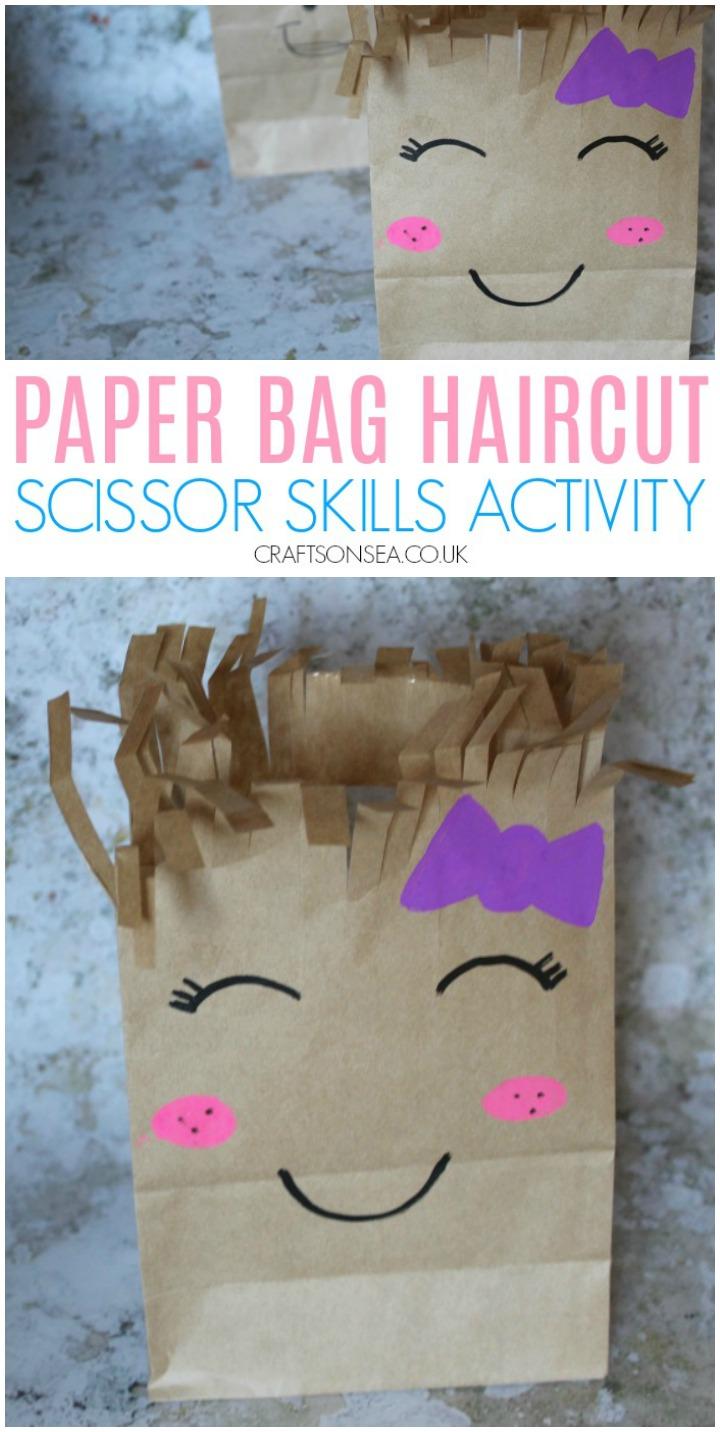 Paper Bag Haircuts: A Cute Scissor Skills Activity