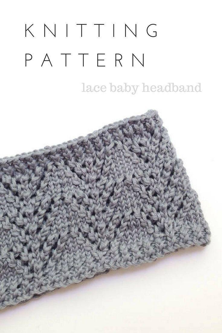 Knit Headband Pattern, Printable PDF, Baby Girl, Baby Headband ...