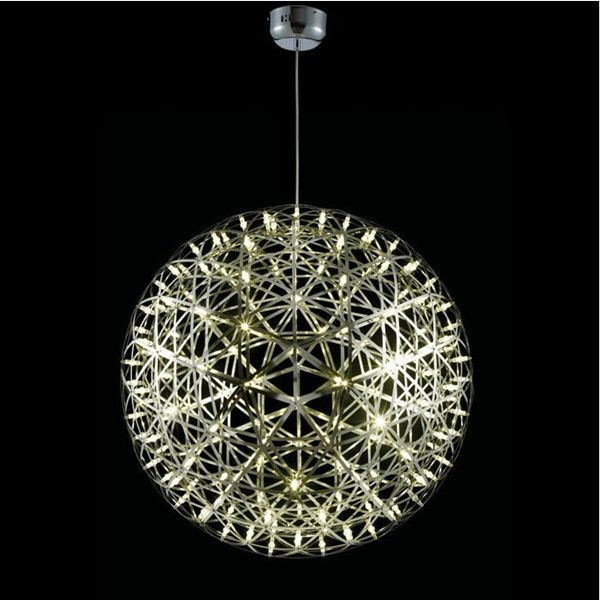 Round Chandelier Light: Aluminum big ball Riamond Round LED Chandelier lustres modernos lamps for  home modern lustre pendant light,Lighting