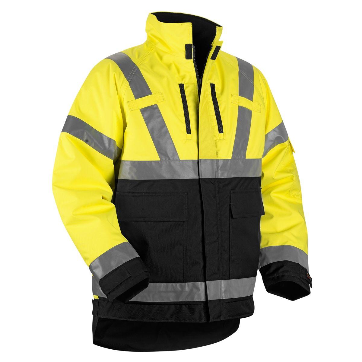 Blaklader 4927 Hi Vis Winter Jacket Yellow Black Winter Jackets Jackets Work Wear