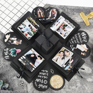 Kaufen Sie Net rote Explosion Box DIY handgemachte Album kreative paar romantische Geburtstag Überraschung Foto benutzerdefinierte Vibrato Geschenk in