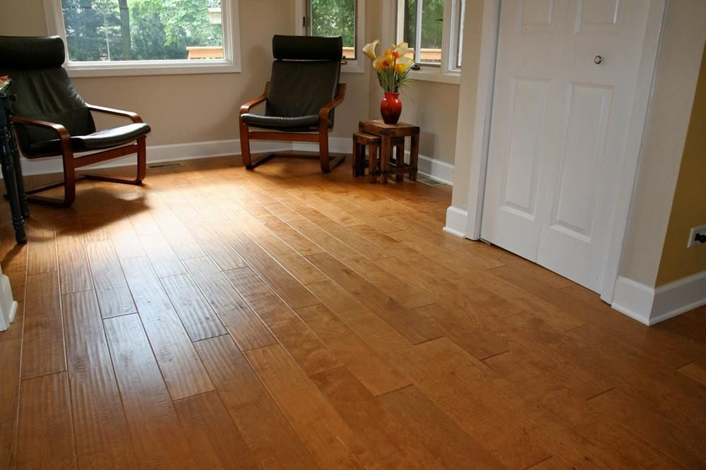 Engineered Hardwood Handscraped Maple Old West Collection