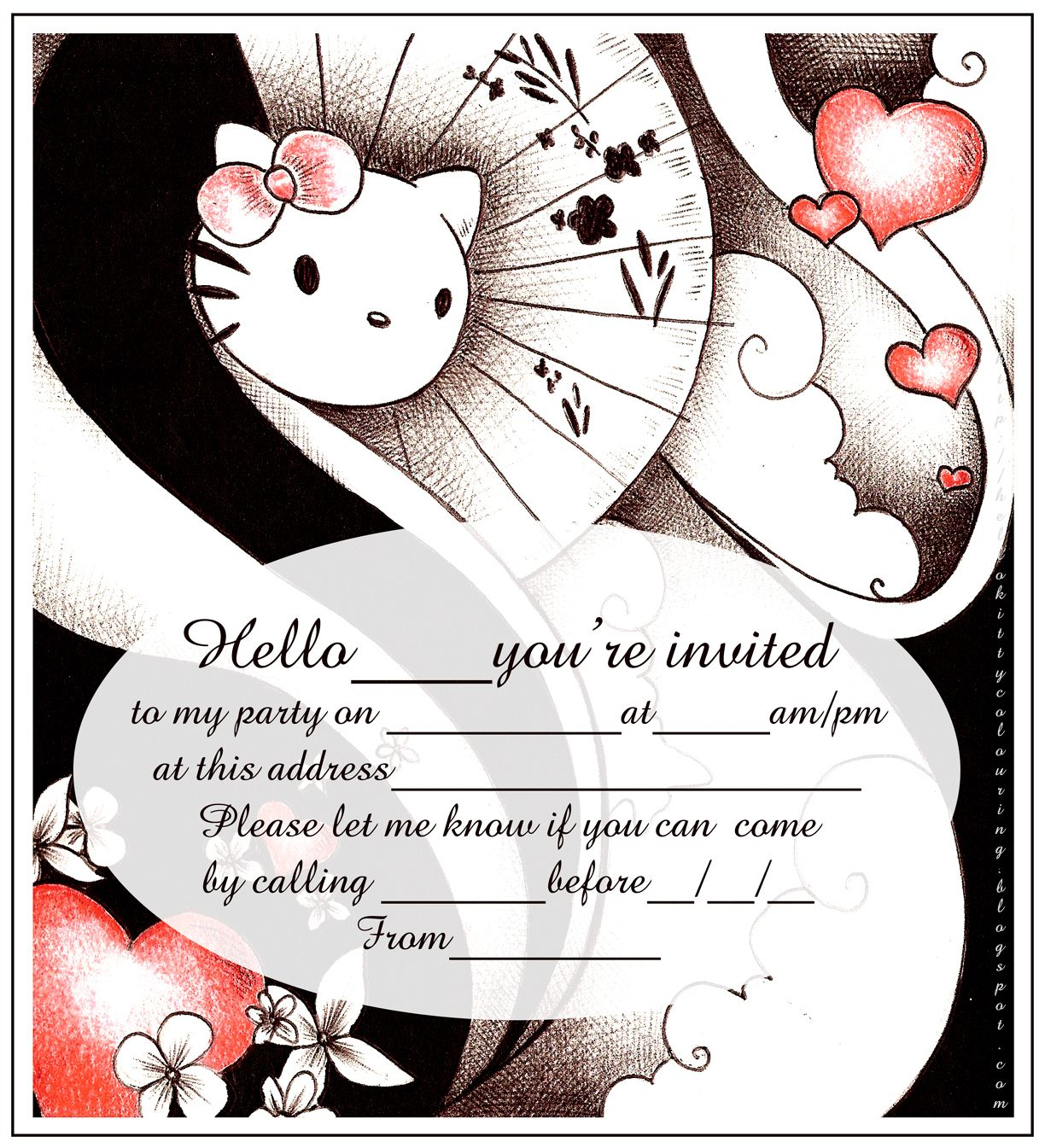 HELLO KITTY COLORING PAGES | A CRAFTS HELLO KITTY COLOR | Pinterest