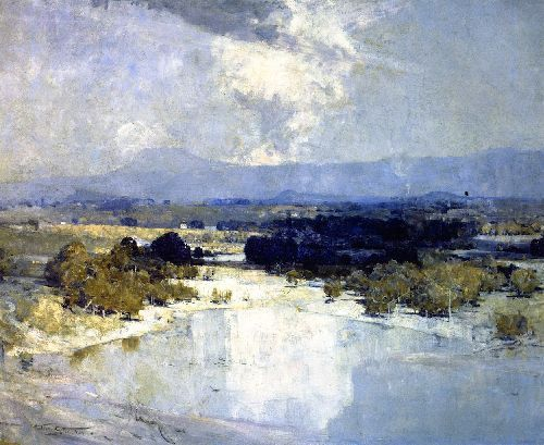 Arthur Streeton Abstract Landscape Painting Landscape Art Painting