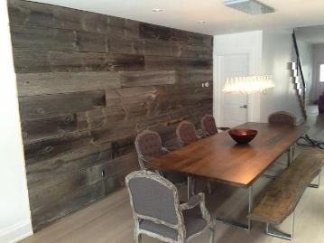Another Cool Feature Wall Made With Barnboardstore.com Wood
