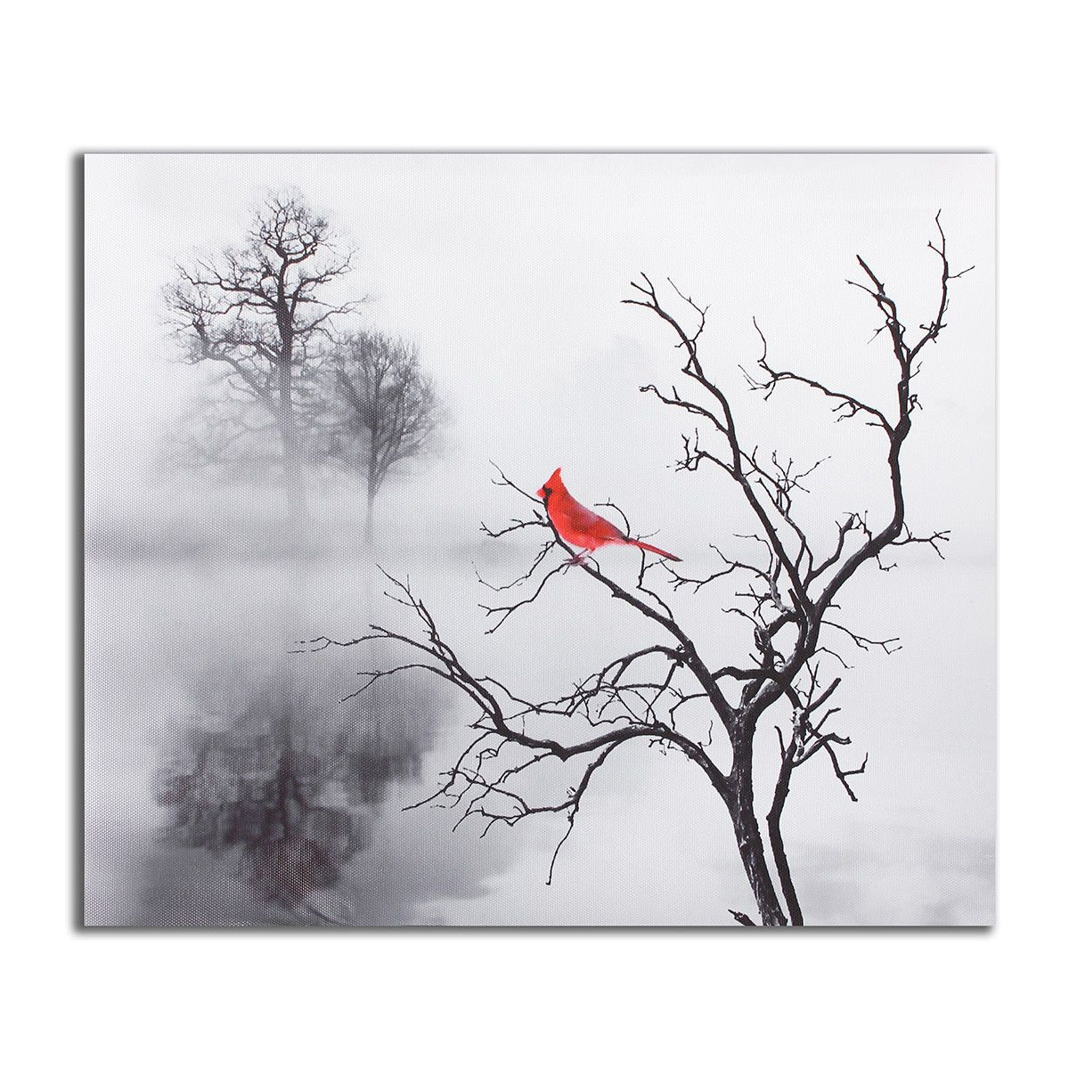 Modern Red Bird Print Canvas Painting Picture Home Wall Art Decoration Unframe