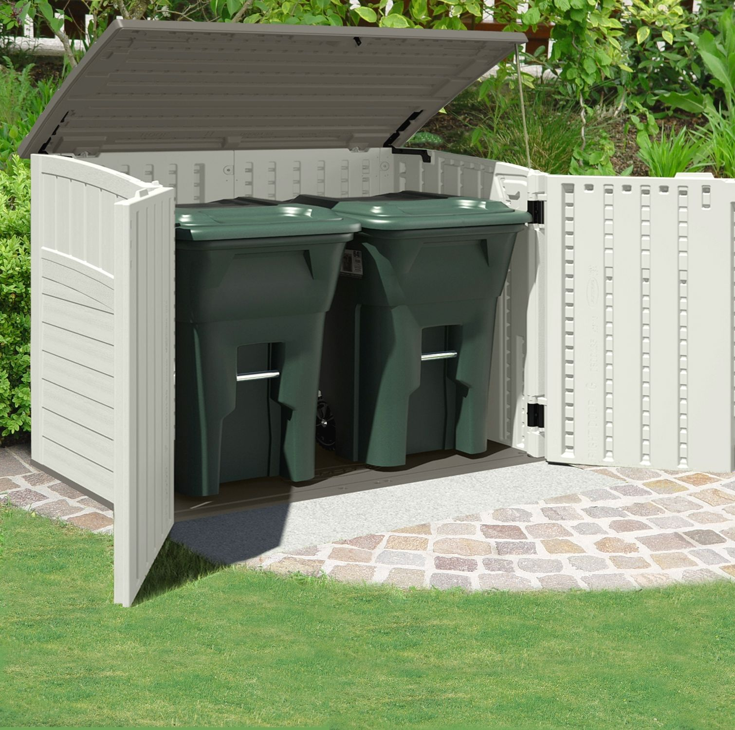 Attrayant Appealing Suncast Storage Shed For Home Outdoor Storage Ideas: Appealing  Kensington Six Horizontal Suncast Storage
