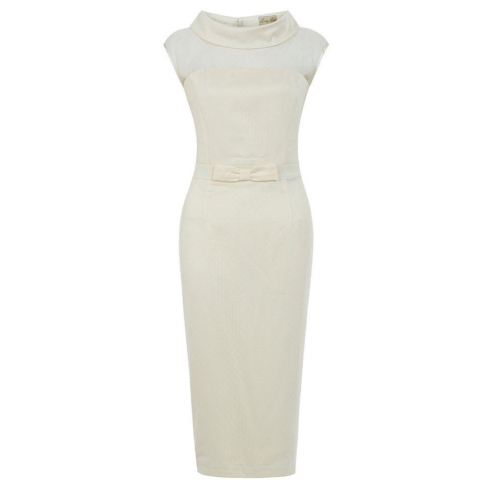 Joni Ivory Tulle Wiggle Wedding Dress | Vintage Style Dresses ...