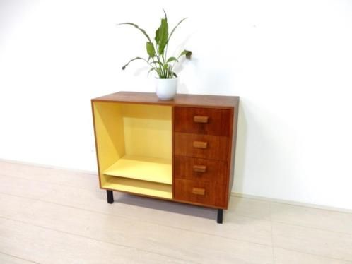 Retro Vintage Kast Dressoir Tv Meubel Lp Platen Kast