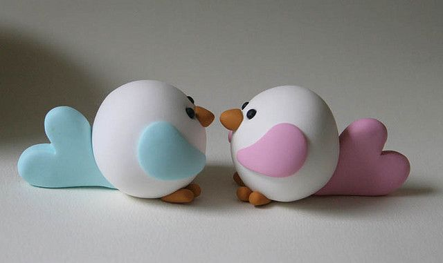 Love Birds..... no instructions, but would be easy and they are soooo cute!!