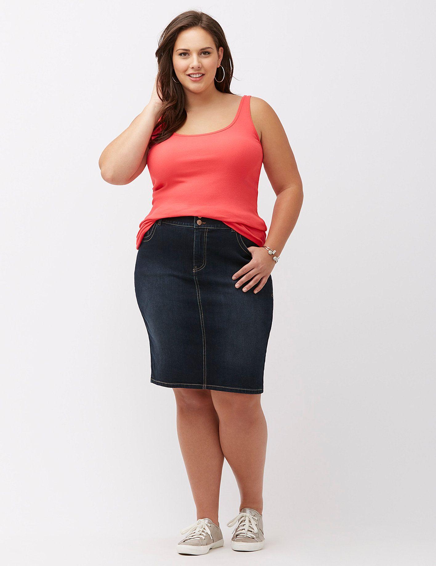 Plus size skirts plus size denim u maxi skirts lane bryant