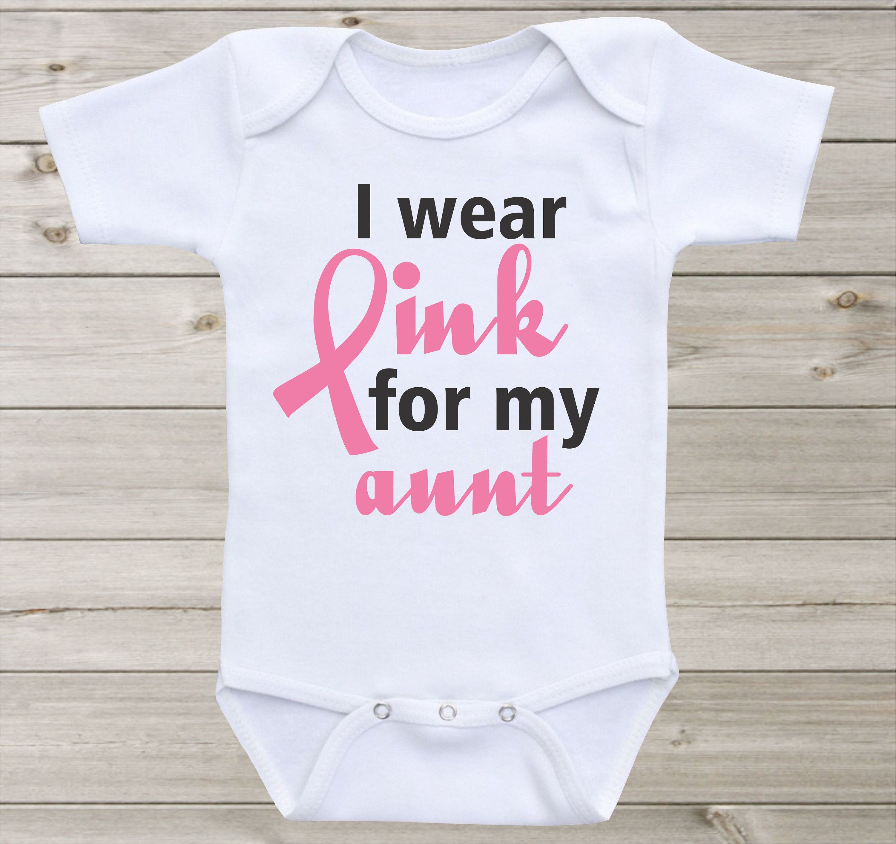 I wear pink for my aunt mom grandma friend baby onesie baby bodysuit i wear pink for my aunt mom grandma friend baby onesie baby bodysuit shirt custom personalized negle Image collections
