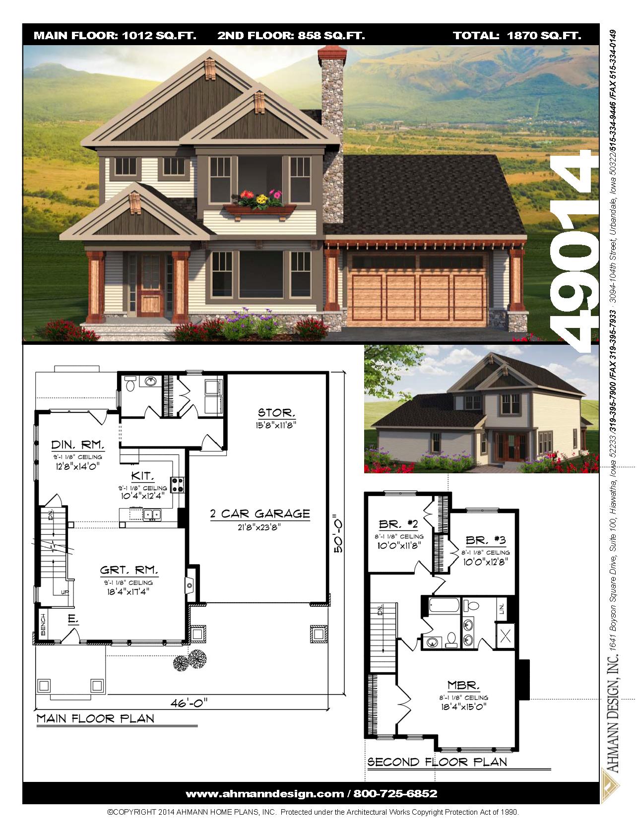 49014 Sims House Design House Plans Open Concept Floor Plans