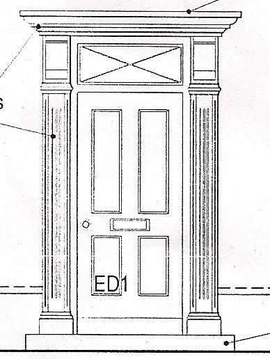 Front Door Drawing Surround E