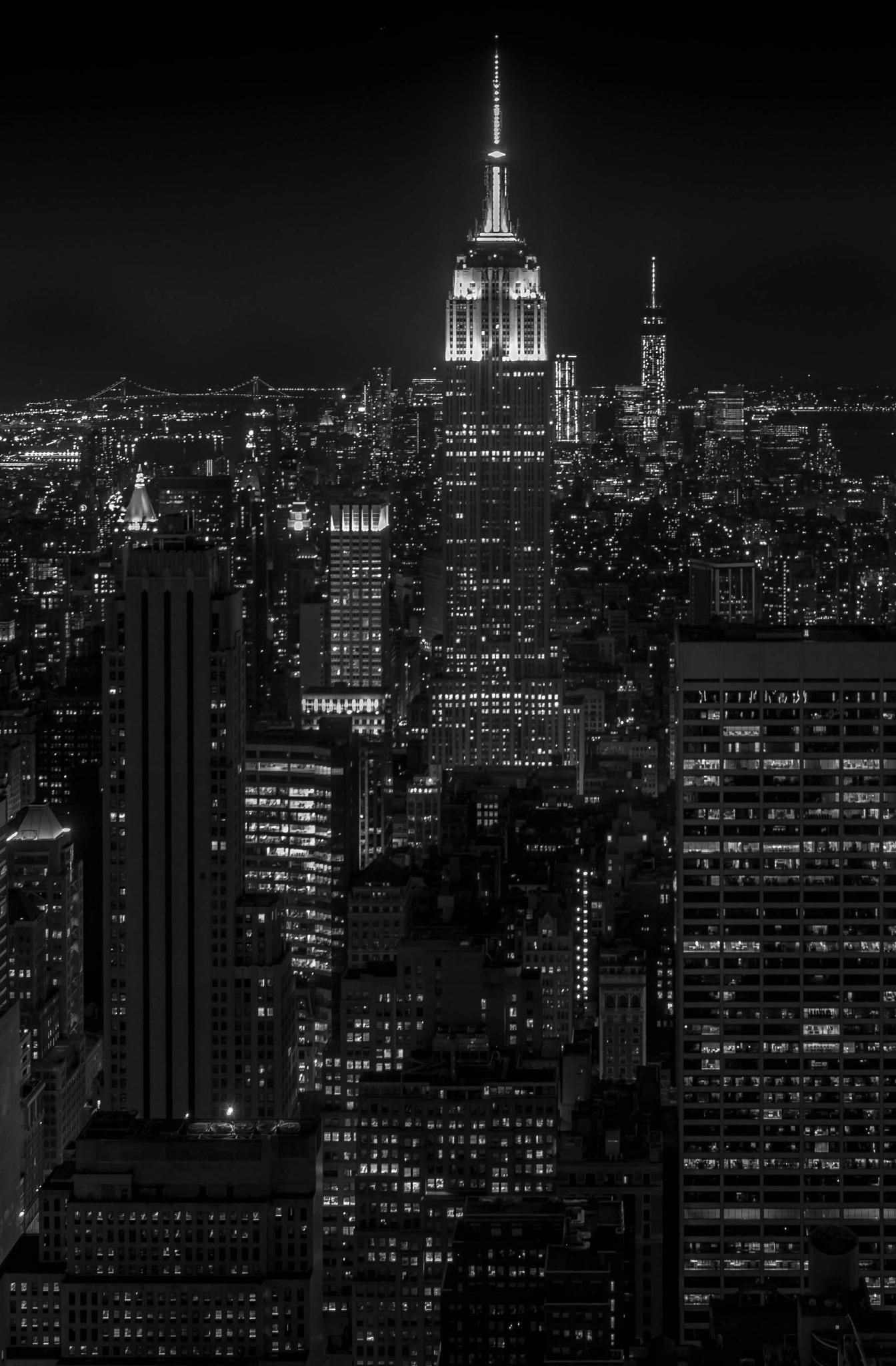 New York Empire State Building Bw Black And White Picture Wall New York Wallpaper Black And White Photo Wall