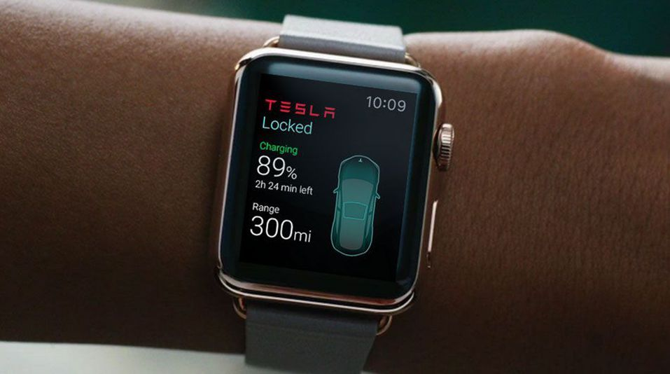 Tesla app for Apple Watch could let you control a car from