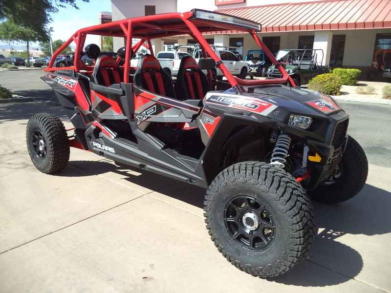 New 2017 Polaris RZR XP 4 1000 EPS Titanium Metallic ATVs For Sale in Arizona. 2017 Polaris RZR XP 4 1000 EPS Titanium Metallic, RideNow Powersports in Goodyear can build your machine the way you want it. Come in for more details and build yours today!<br /> <br /> 2017 Polaris RZR XP® 4 Turbo EPS Titanium Matte Metallic <p> 4 seats to share unmatched power, suspension, and agility.</p><p> Features may include: </p> POWER FEATURES <ul> <li> NEW! 168HP PROSTAR® TURBO H.O…
