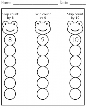 Skip Count 810 Worksheet Great for