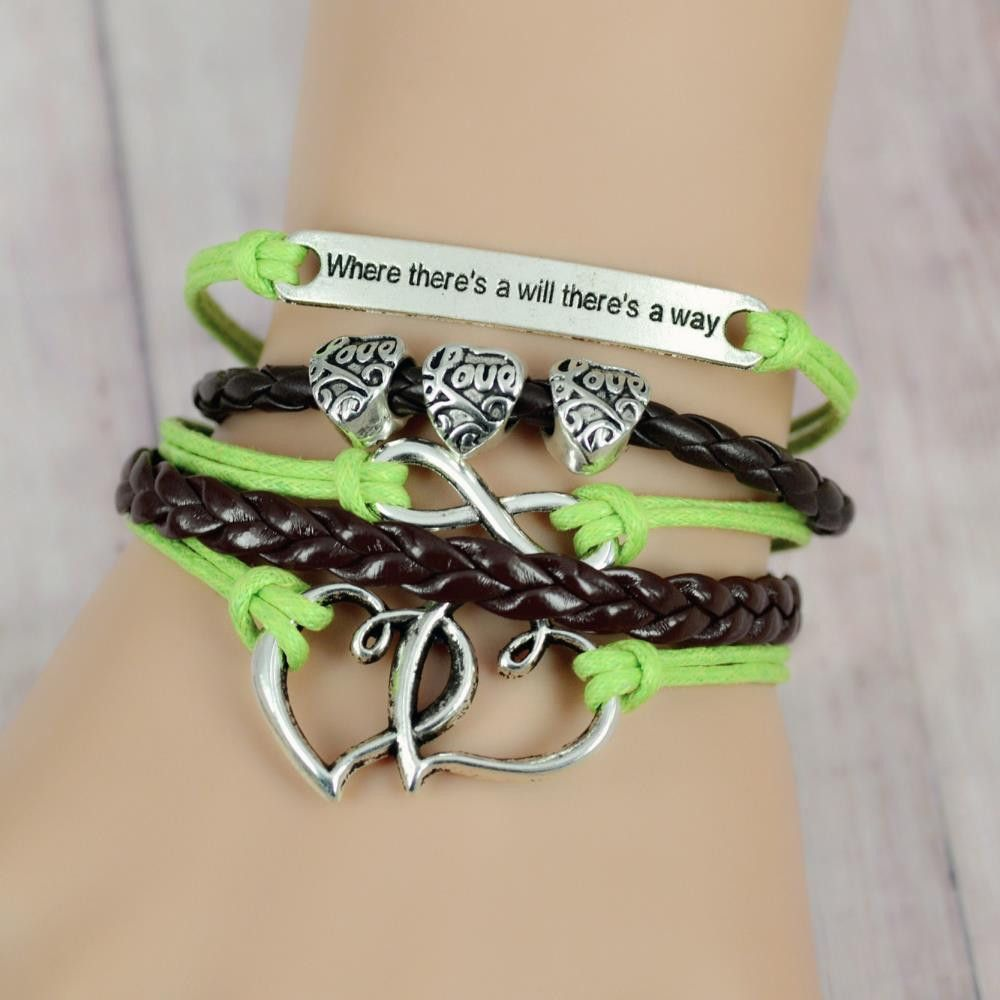 leather charm bracelet braid multilayer infinity anchor rudder