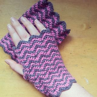 Crochet Hand Warmers two sizes Wool Wrist Warmers Purple Fingerless Gloves