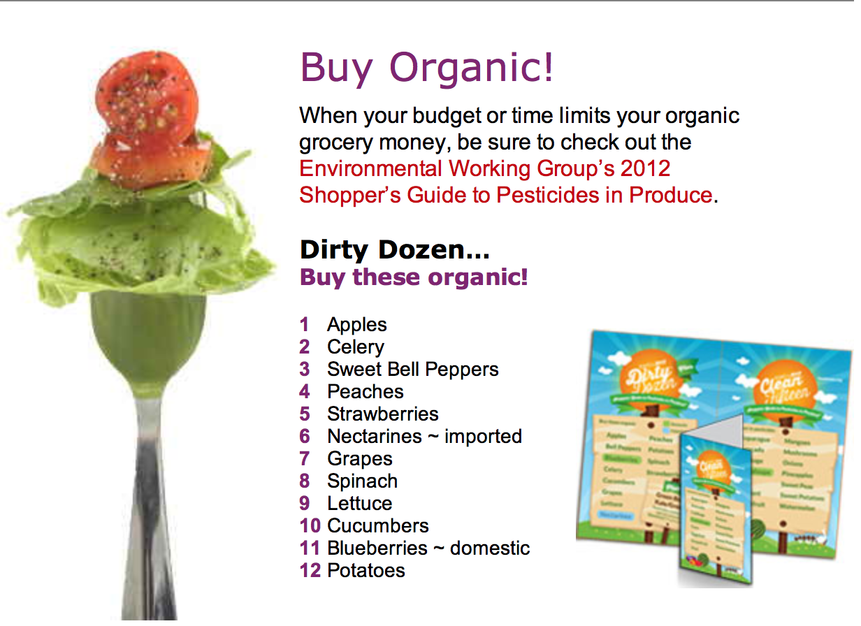 When you can, buy organic!  No pesticides!