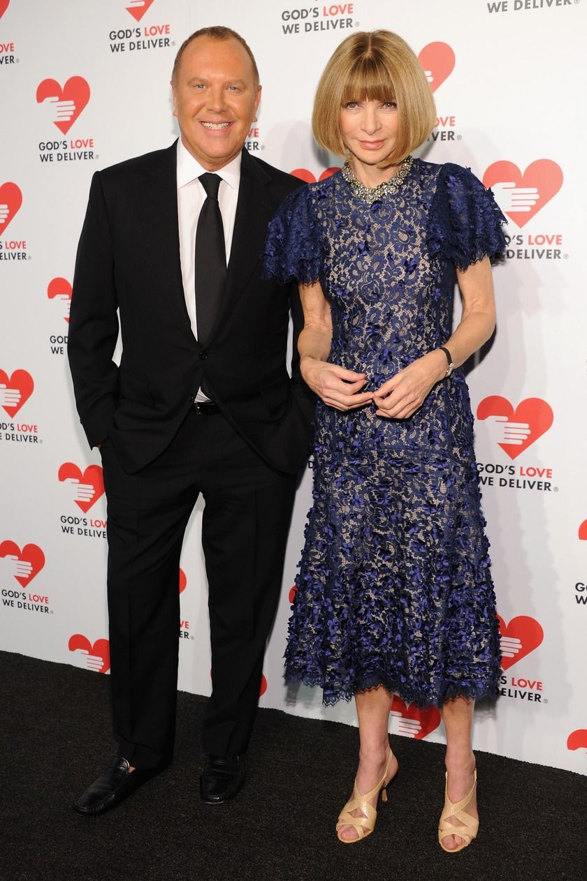 Anna Wintour with Michael Kors at God's Love We Deliver Golden Heart Awards Celebration in New York City.