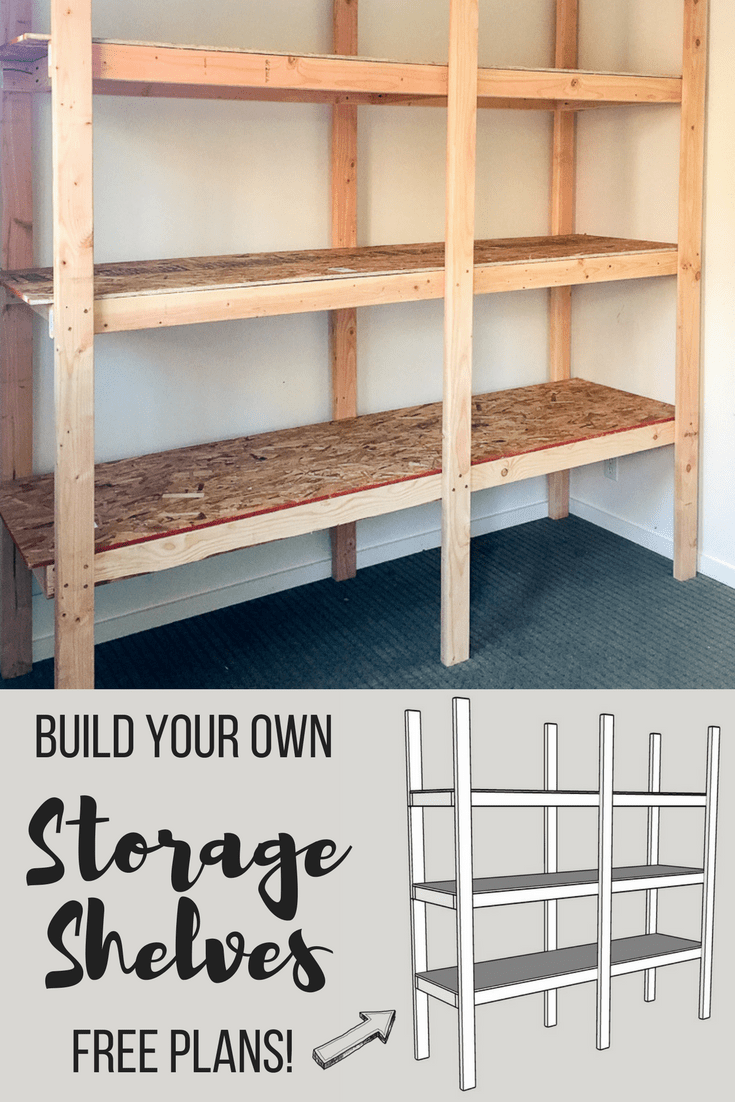 Plywood loft bed plans  How to Build Storage Shelves for Less than   Woodworking Plans
