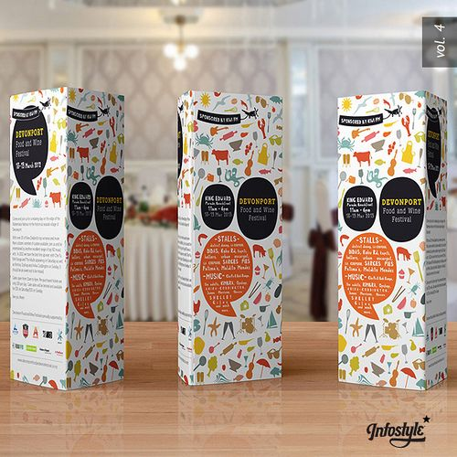 Paper Trifold Brochure Table Tent Brochures Pinterest Tri - Tri fold table tent template