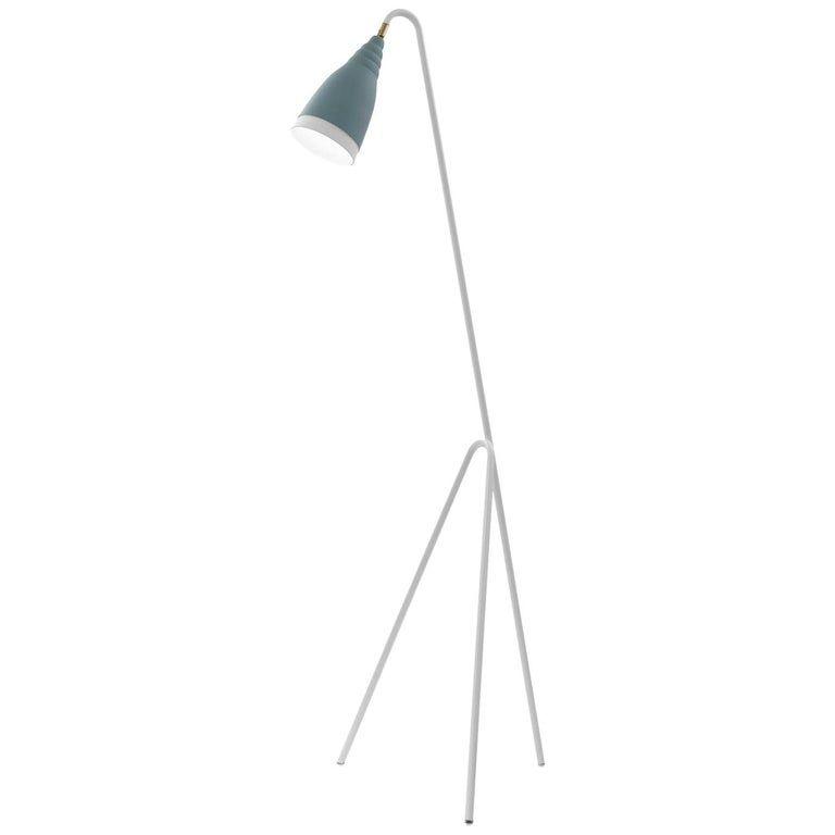 Gugia Powder Blue Floor Lamp By Isacco Brioschi Blue Floor Lamps