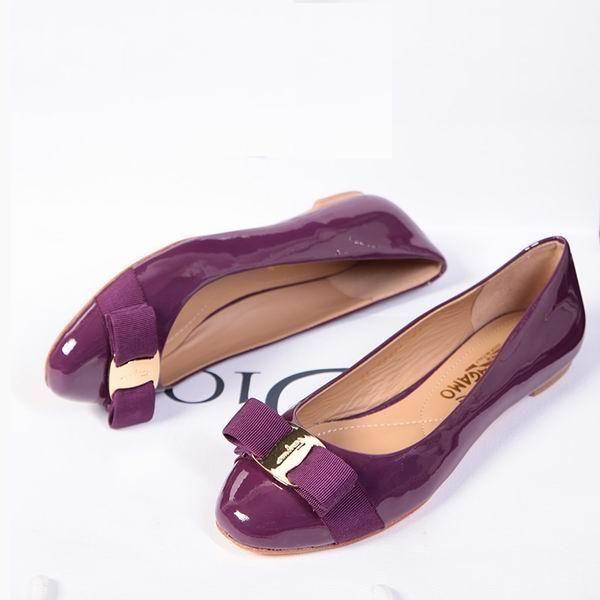 770fda559b40 Ferragamo Varina Flat Purple