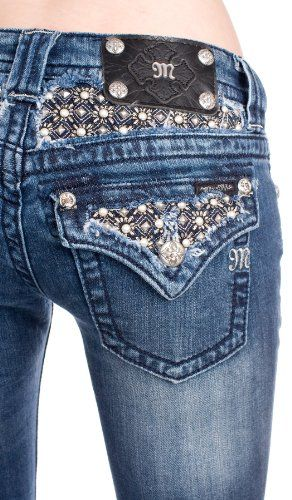 6edf0b1e Amazon.com: Miss Me studded pearl bootcut jeans (up to size 34): Clothing