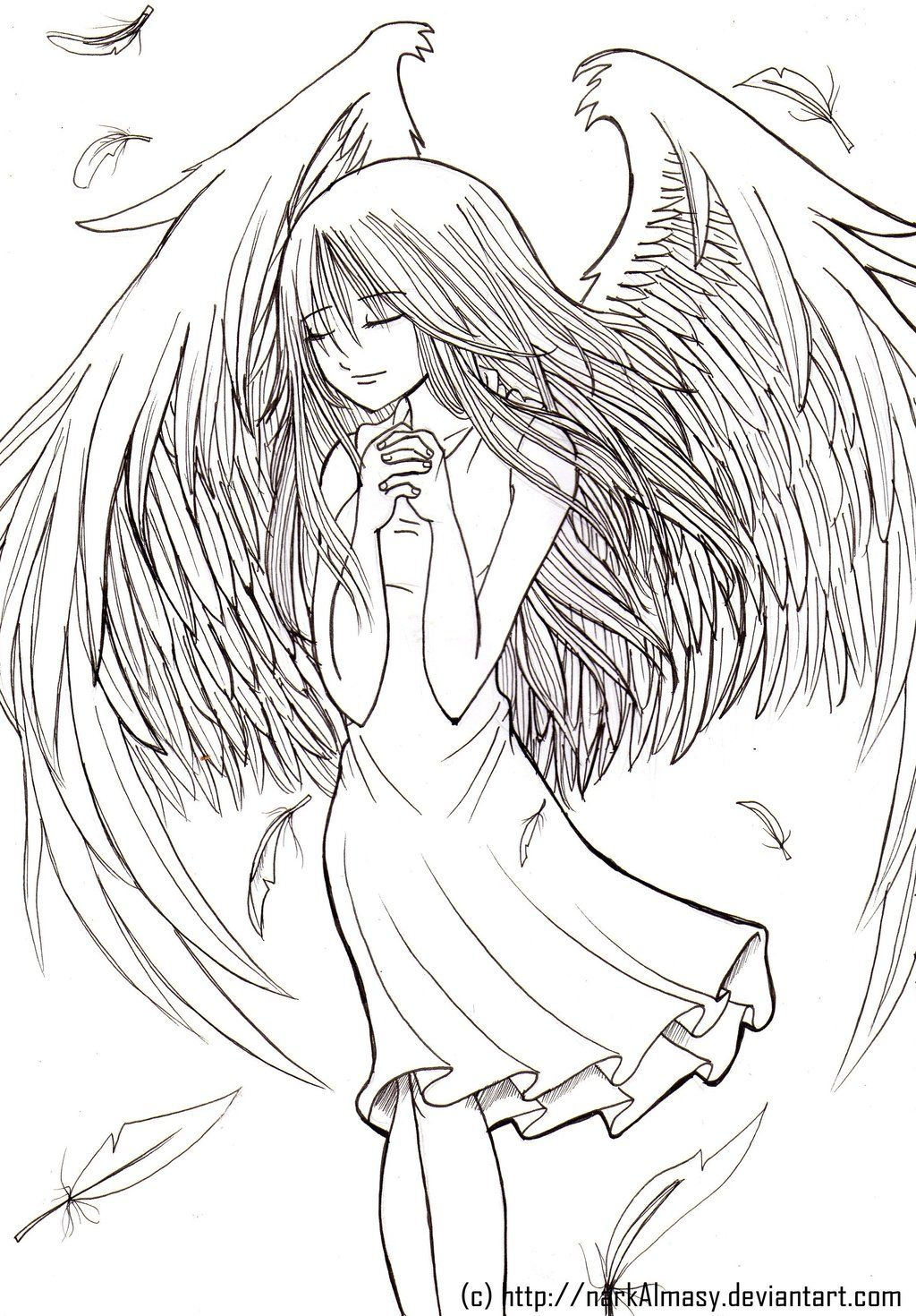 Lineart fairy by narkalmasy on deviantart dessins pinterest