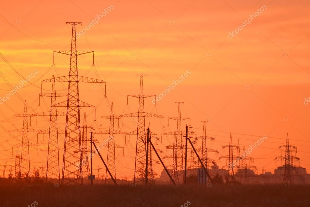 Electric Power Transmission Lines At Sunset Stock Photo Aff Transmission Power Electric Lines Ad