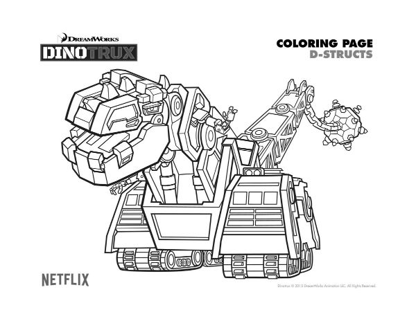 dinotrux d structs coloring page printable coloring