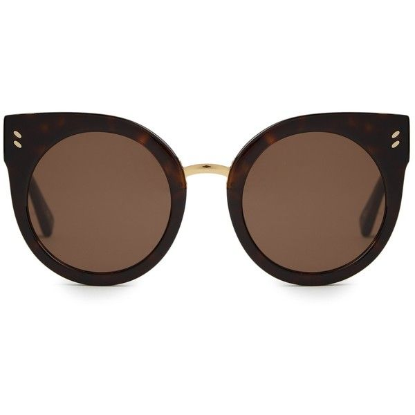 b627148e910 Stella McCartney Cat-eye acetate sunglasses ( 199) ❤ liked on Polyvore  featuring accessories