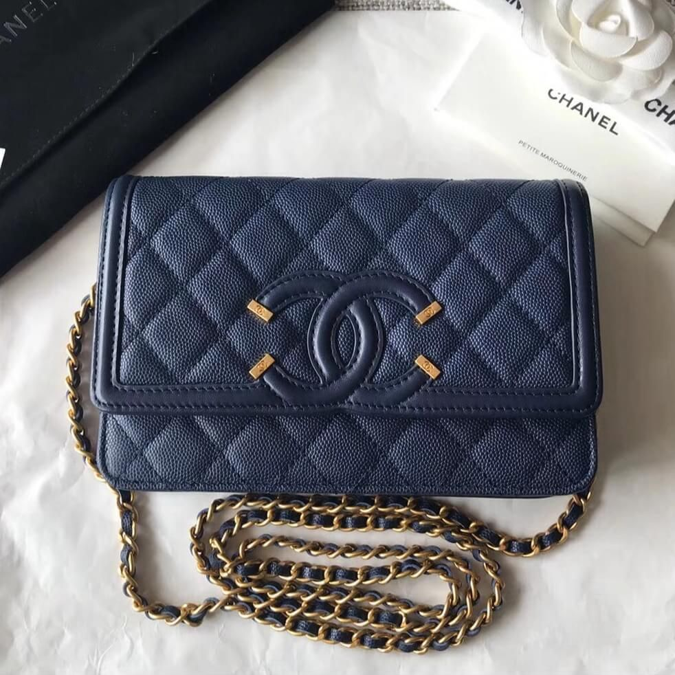 4eb624ac77ad Chanel Filigree Wallet on Chain WOC Bag 100% Authentic | Chanel Bags Sale  Outlet