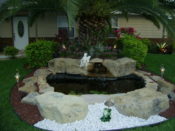 Front Yard Landscaping Ideas with Fish Pondjpg 588441 Ideas