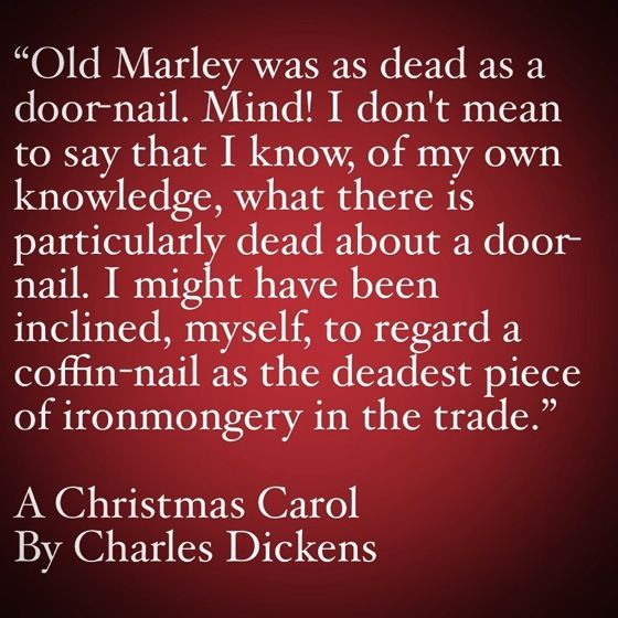 a christmas carol opening line