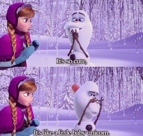 Friday Funnies: Frozen (Olaf)
