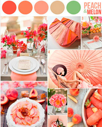 considering warm tones + green as wedding colors... would this clash or match fall foliage colors?