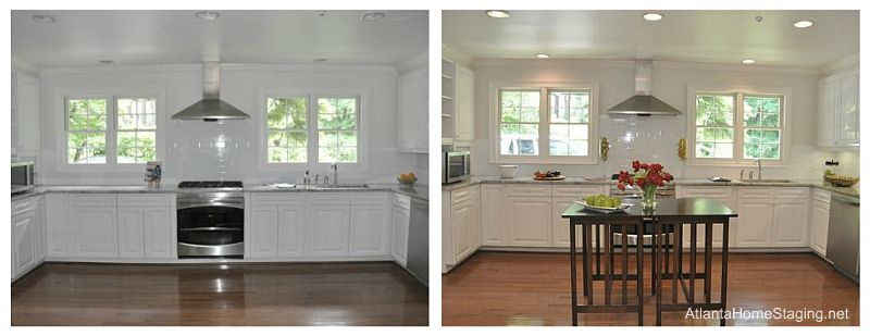 Kitchen staging before after buckhead kitchen before for Home staging before and after