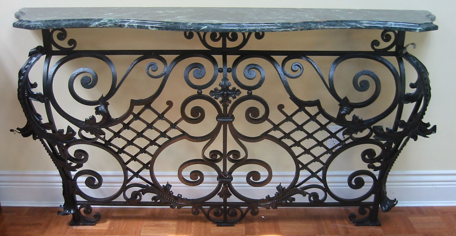 Wrought Iron Marble Top Console Table Google Search With Images