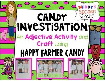 adjective investigation using happy farmer candy education