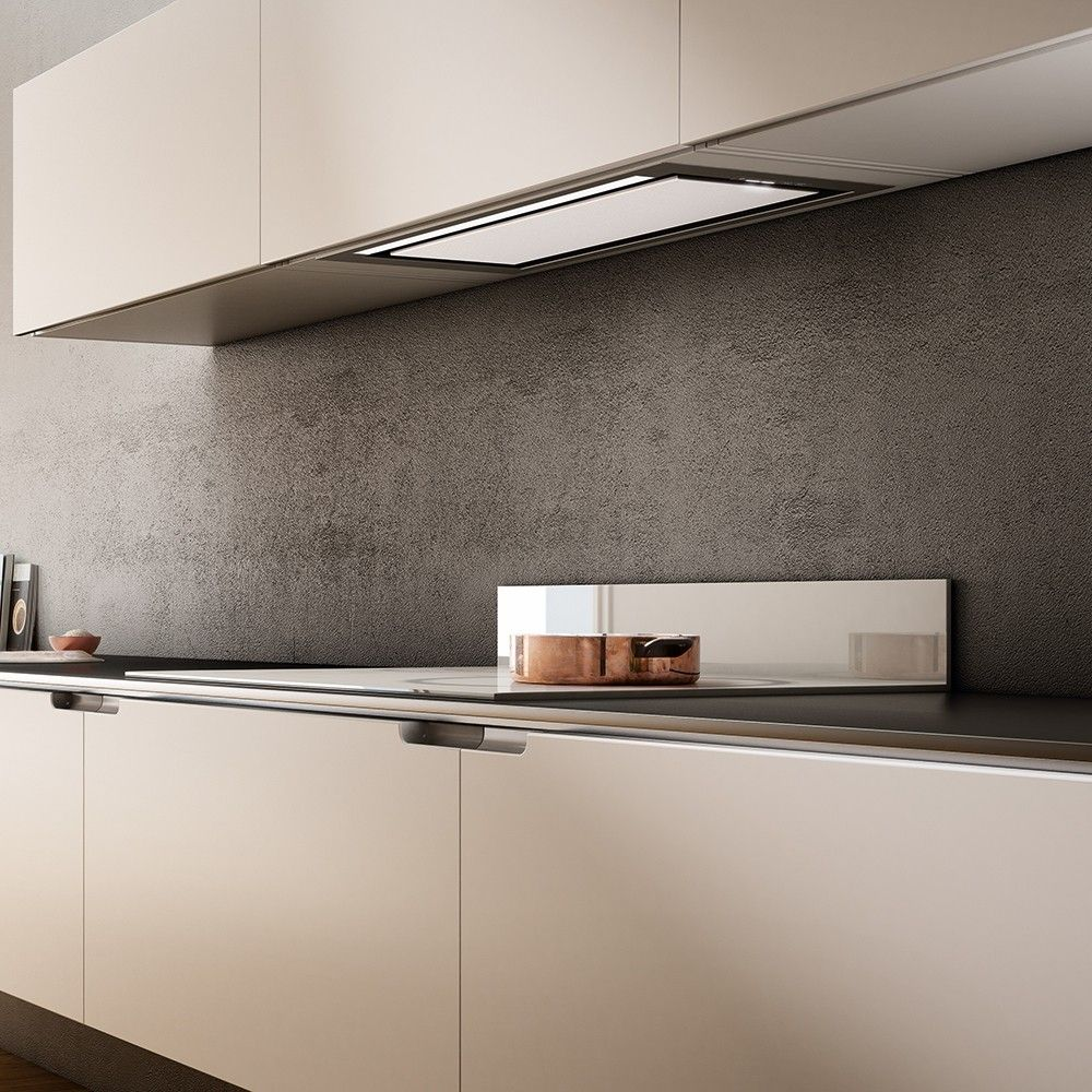 New From Elica A Built In Model Kitchen Hood Elegant Center Steel Or